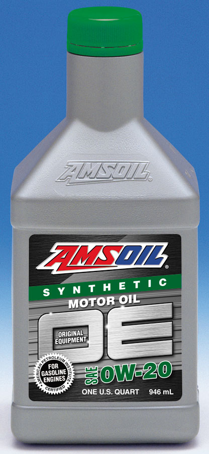 Amsoil oe 0w 20 synthetic motor oil amsoil synthetic for Synthetic motor oil vs conventional