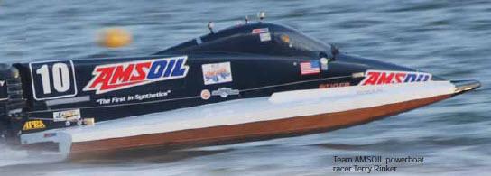 Amsoil Speedboat Racer Terry Rinker